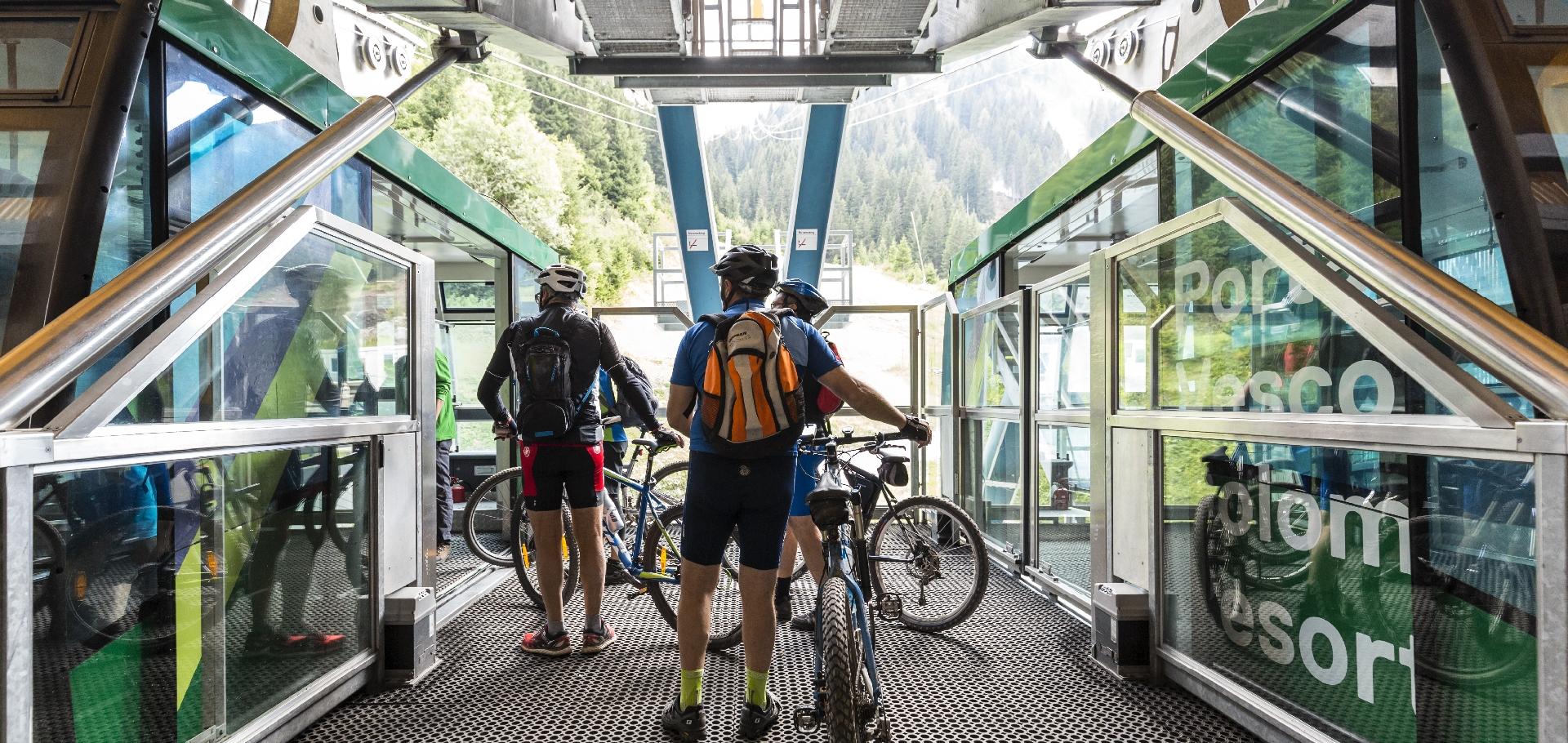 mountain bike funivia Portavescovo